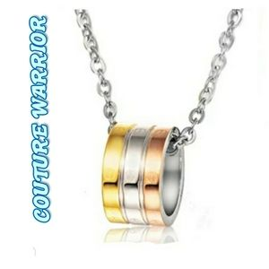 Tri color Necklace only